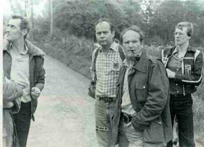 1979 - Voeren: Huub Broers, Bert Eriksson, Erik Crommelinck en Luc Vermeulen