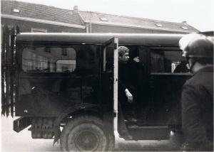 Leon Bancken opgepakt tijdens een actie in de Voer.