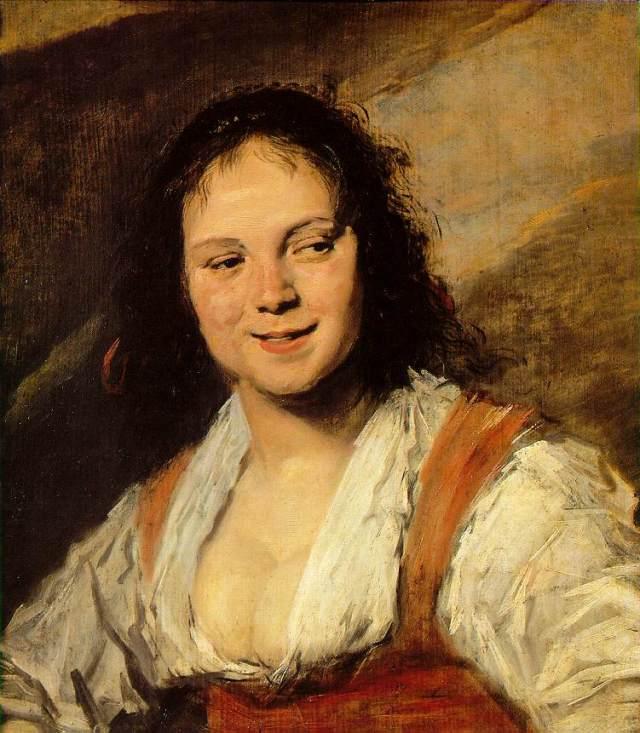 Zigeunermeisje door Frans Hals (Antwerpen, ca. 1583 - Haarlem, augustus 1666)