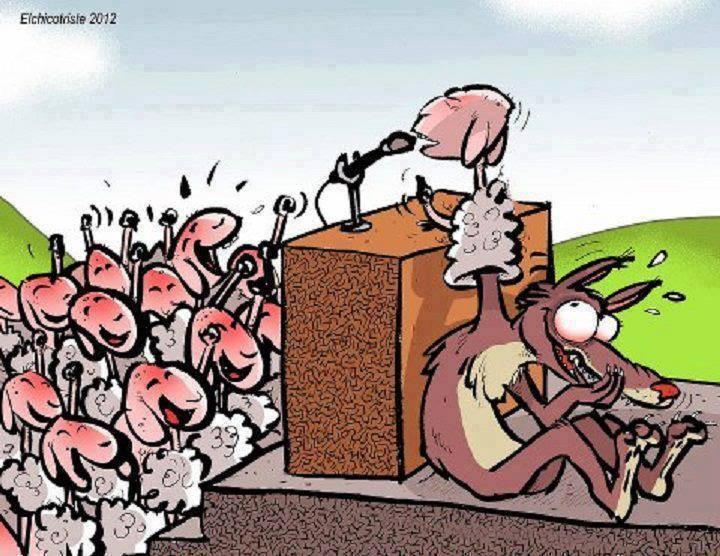 """Julius Malema spreekt zijn volgelingen toe: """"Kill the Boer! They stole our ground!"""" Niets dan leugens, maar dat deert hem niet."""