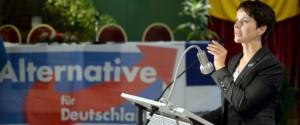 Frauke Petry - voorzitster AfD Foto dpa
