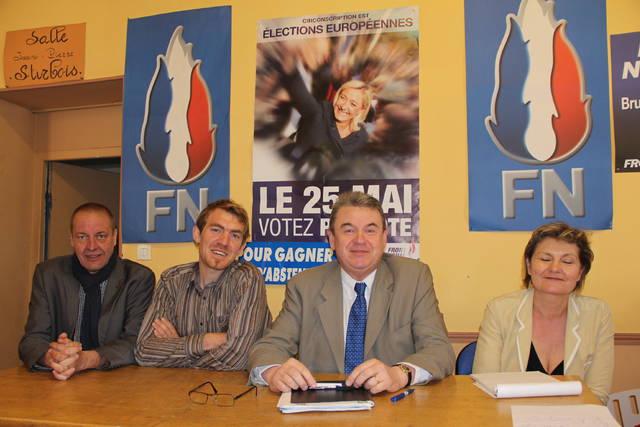 Archieffoto met Bruno Subtil als tweede van rechts.