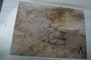 Tempelbrokken in Ayhodya van de door de moslims vernielde tempel van Rama