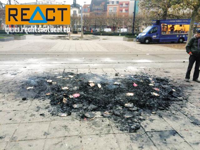 Het NMBS Station Gent Sint-Pieters werd 'netjes' achtergelaten door de vakbonden. Stadsarbeiders mogen het boeltje opkuisen. Solidariteit?