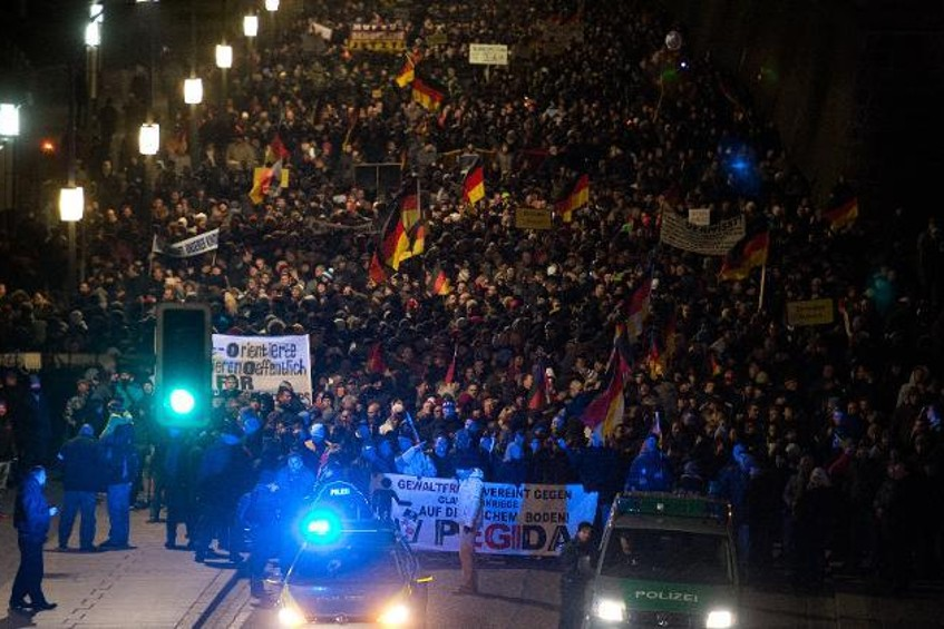 20.000 Pegida-manifestanten in Dresden. Een nieuw record!