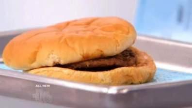 Zo ziet een hamburger van McDonald's er na 14 jaar uit - copyright The DoctorsCBS