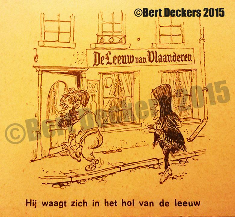 Een oud visitekaartje van De Leeuw Van Vlaanderen.