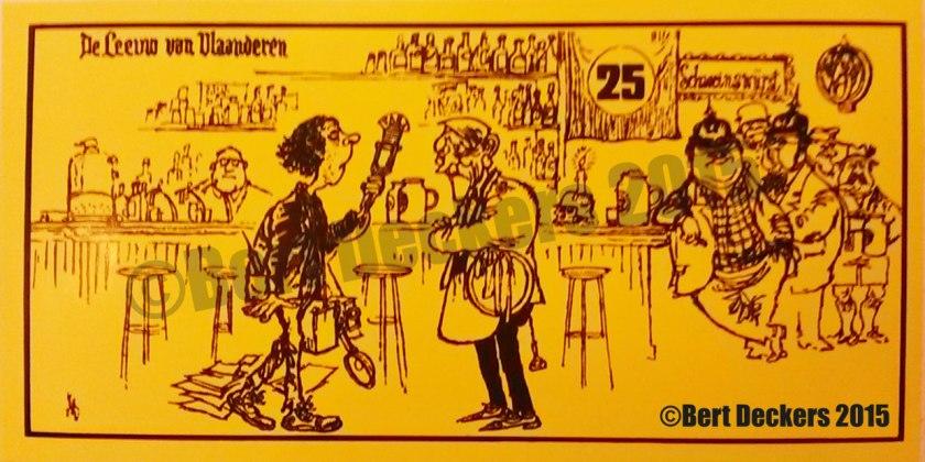 Zelfklever uitgegeven ter ere van 25 jaar De Leeuw Van Vlaanderen.