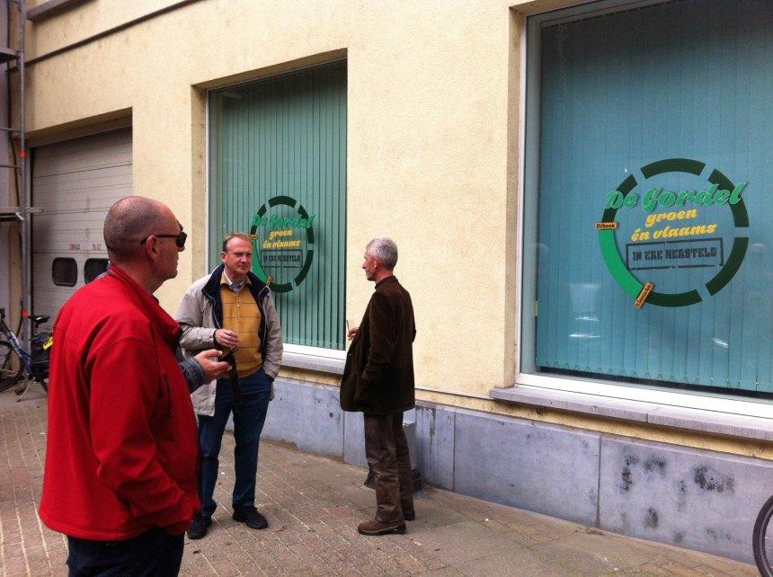 """Het nieuwe logo van De Gordel, ontworpen door de VVB. """"De Gordel Groen én Vlaams - in ere hersteld""""."""