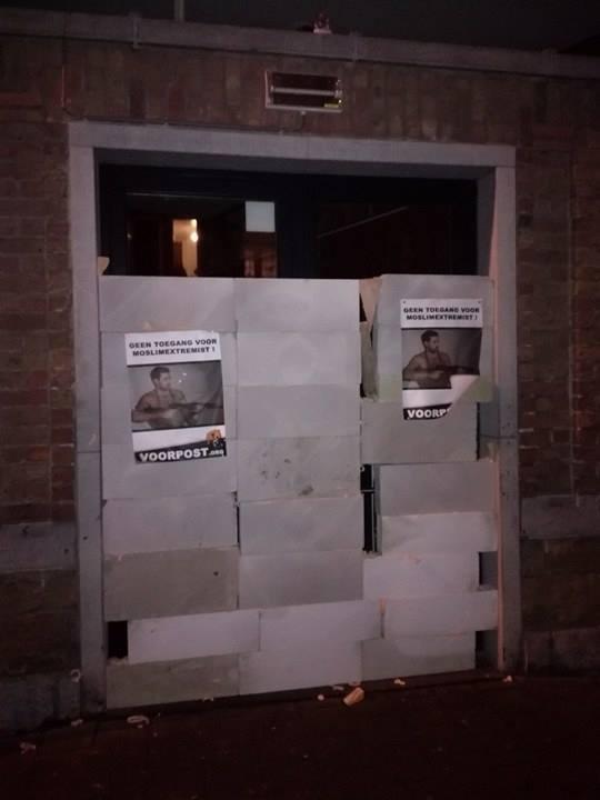 Extremist Abou Jahjah niet welkom in Gent: Voorpost metselt ingang tot zaaldicht