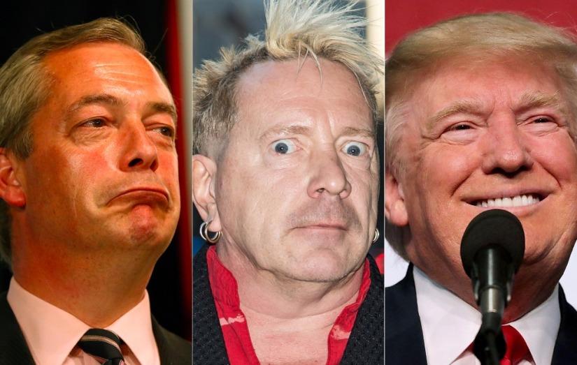 """Sex Pistols zanger Rotten: """"Trump zou mijn vriend kunnen zijn en Farage krijgt mijnsteun!"""""""