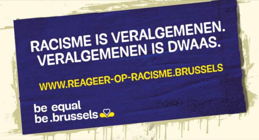 Na de verschillende rellen in Brussel: grootse campagne van Brussels Gewest tegen…racisme