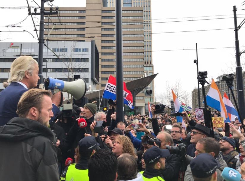 Demonstratie Partij voor de Vrijheid inRotterdam