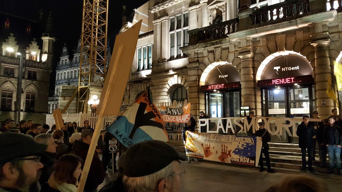 (VIDEO) Optocht NSV in Gent tegen genocide op blanken in Zuid-Afrika