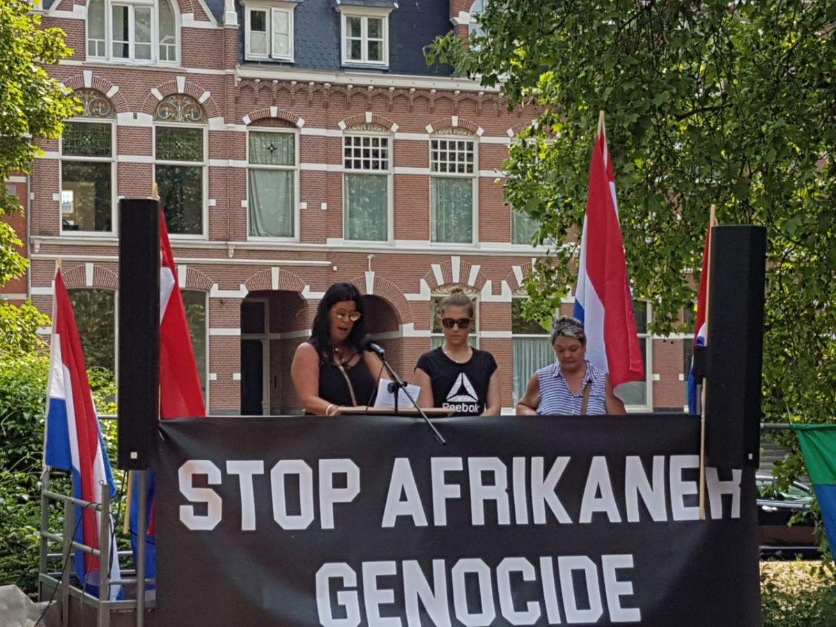 Demonstratie voor de Afrikaner in Den Haag