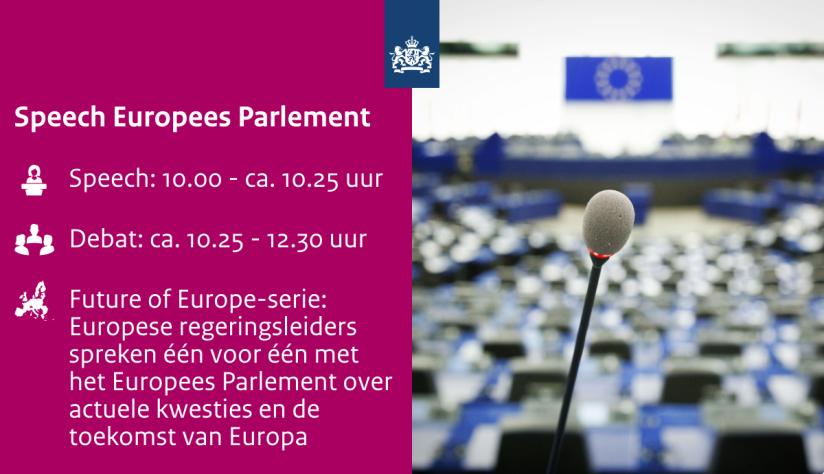 Toespraak van manager Mark Rutte in het EuropeesParlement