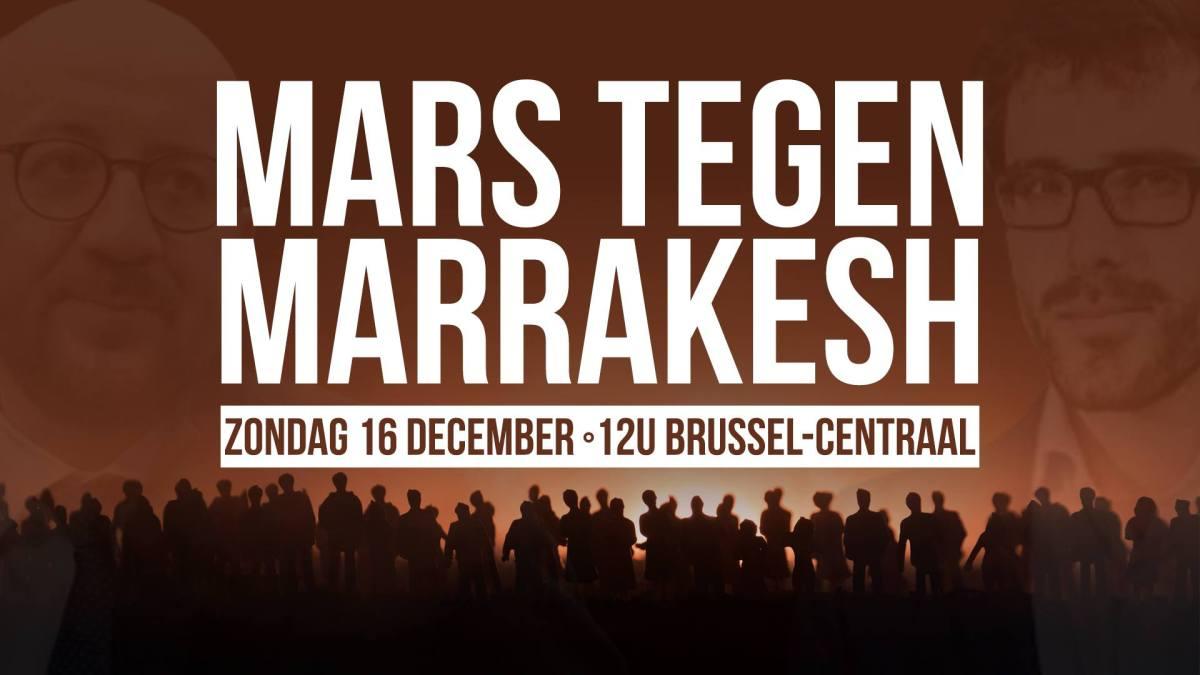 Mars tegen Marrakesh gaat door, Brussel Centraal, 12 uur, oproep tot vreedzaam verzet tegen PS-verbod