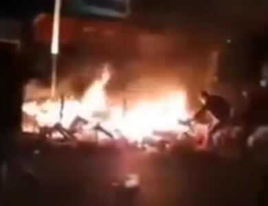Oudejaar 2018:  Brussel brandt door moslimgeweld / New Years Eve 2018: Brussels burning because of Muslimviolence